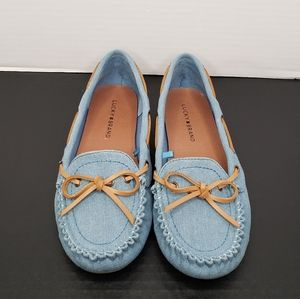 Lucky Brand Abelle Denim Moccasin Flats size 8.5